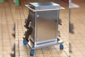 Transportabler Display-Schrank für Präsentationen