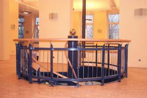 Wendeltreppe (Fluchtwegtreppe) für den Gastronomiebereich im AK St. Georg