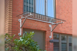 Metallbau Geerz - Vordach aus Edelstahl und Glas